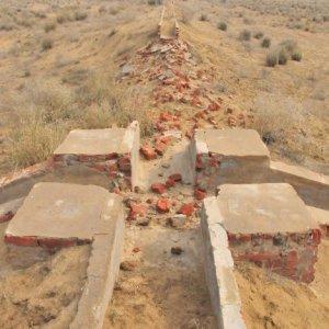 पश्चिमी राजस्थान में इंदिरा गांधी नहर का एक टुकड़ा