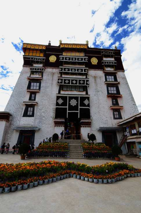 The enterance to the erstwhile residential quarters of the Dalai Lama at the Potala Palace, Lhasa